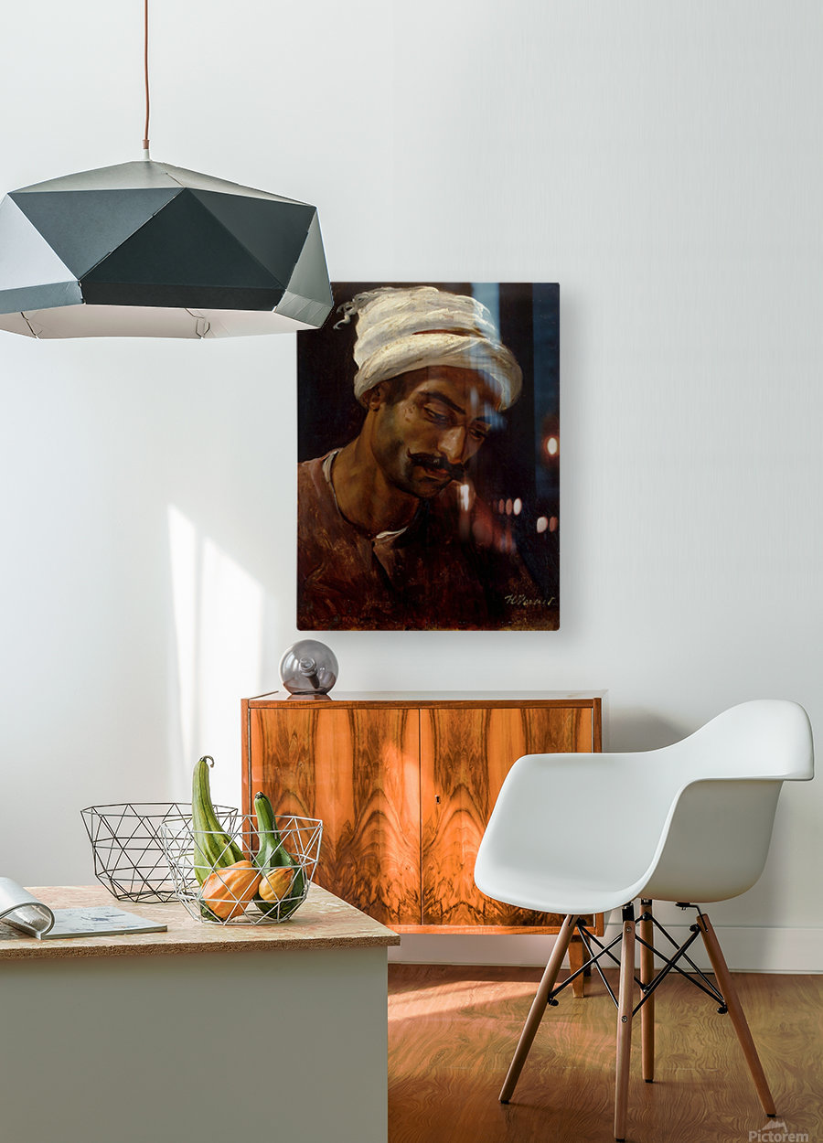 Head of an Arab  HD Metal print with Floating Frame on Back
