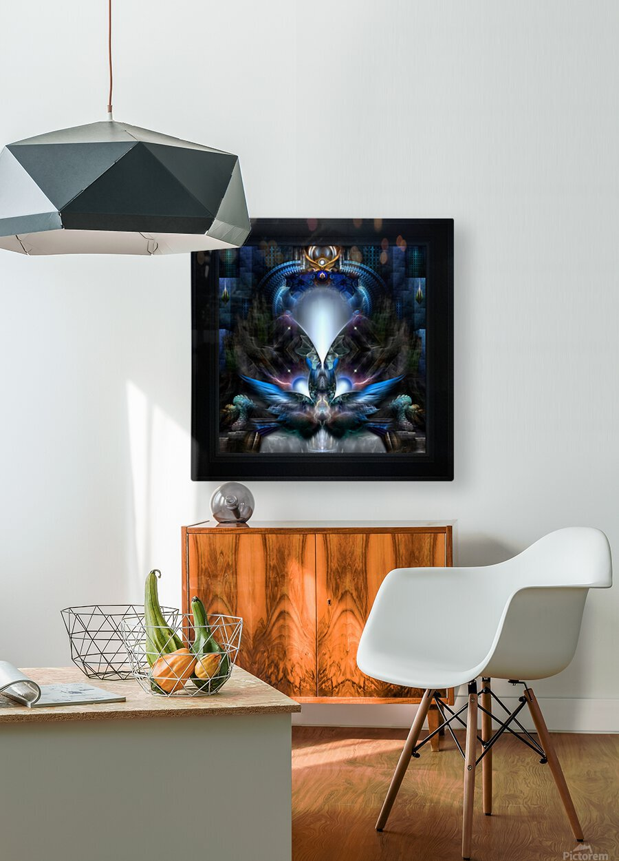 Herald The Light Fractal Wings Digital Art by Xzendor7  HD Metal print with Floating Frame on Back