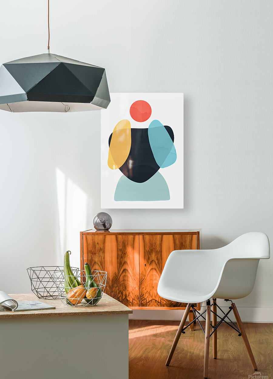 Abstraction C  HD Metal print with Floating Frame on Back