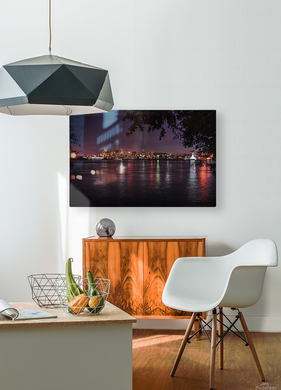 montreal night  HD Metal print with Floating Frame on Back