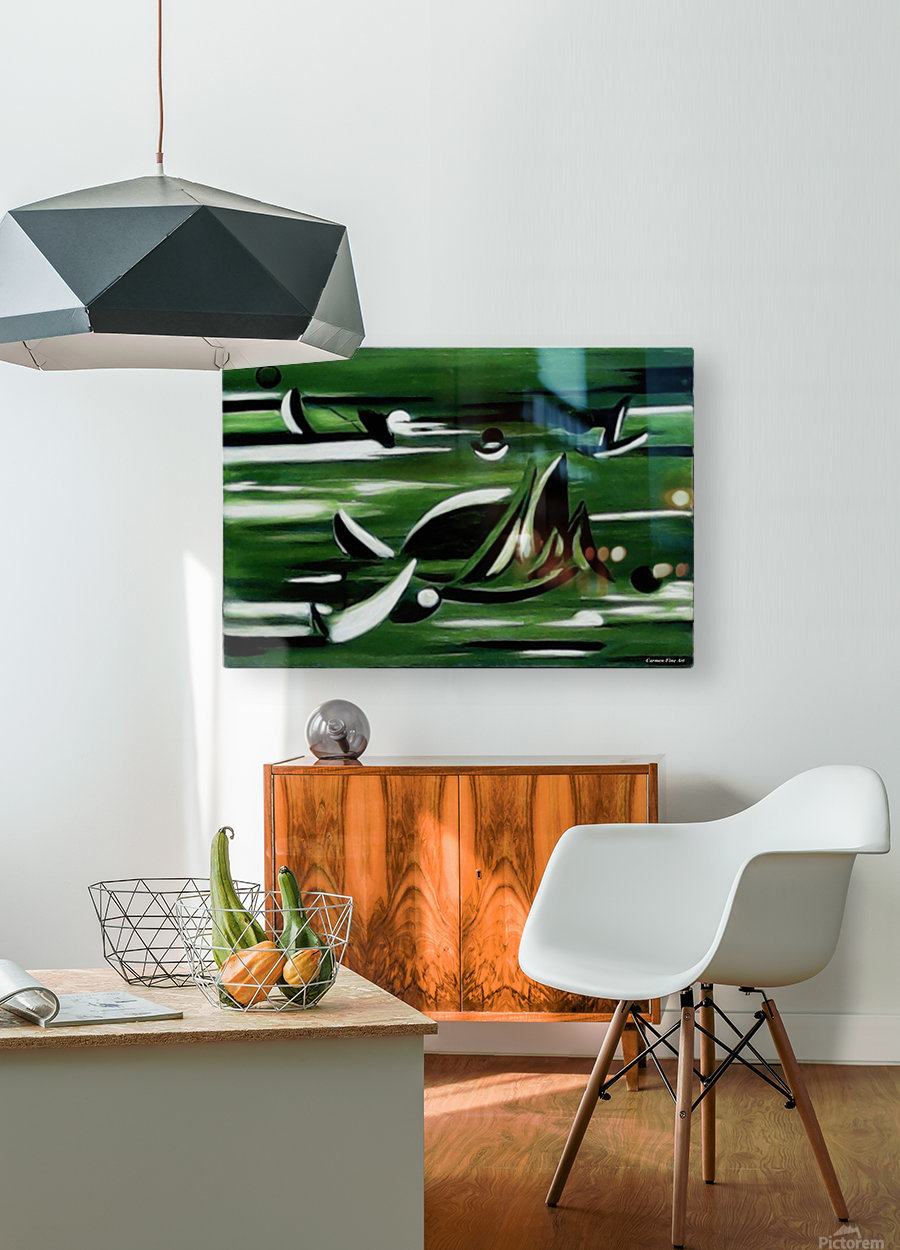 Instant Season  HD Metal print with Floating Frame on Back