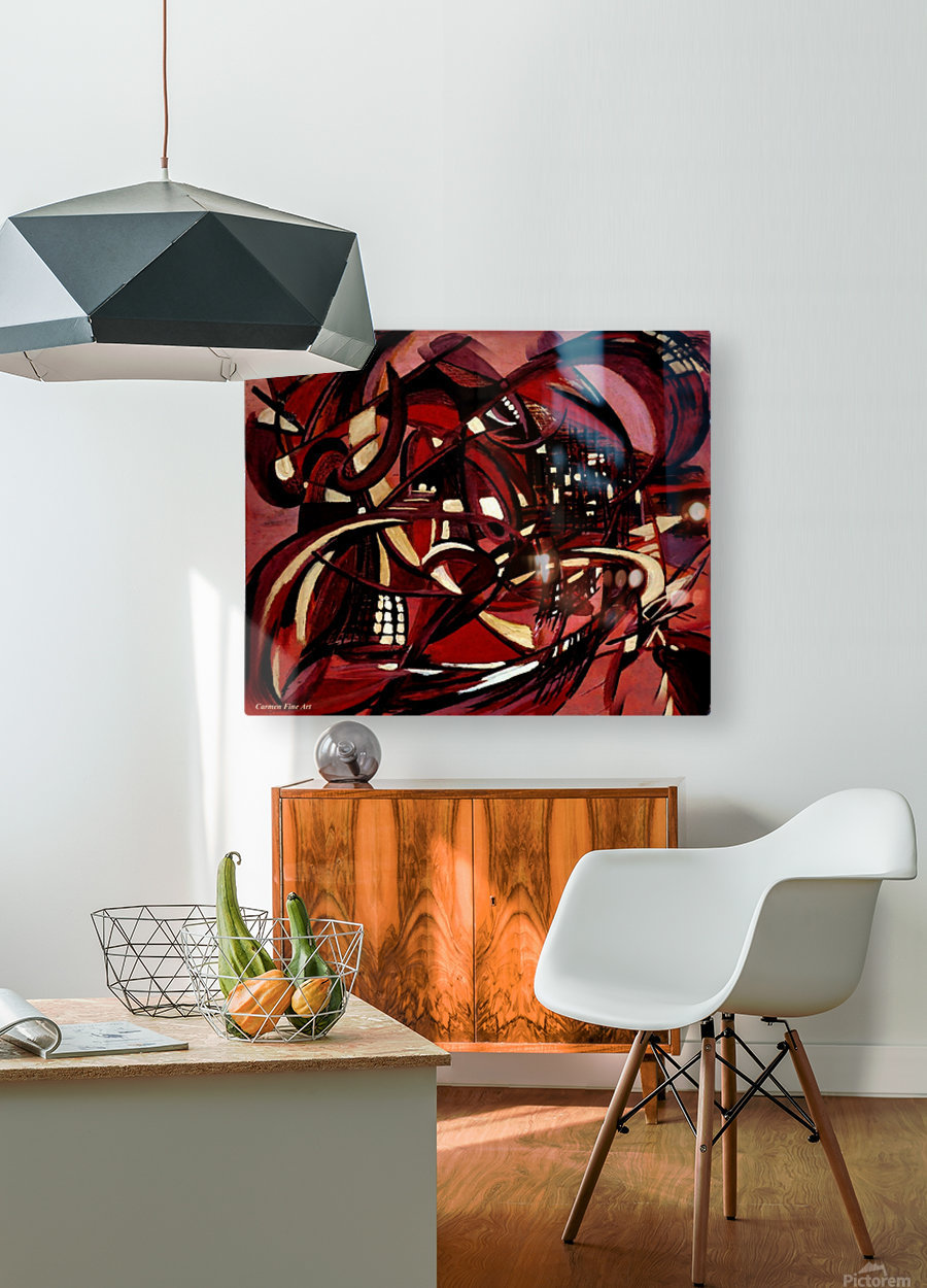Intimate Still Life with Incidental Intensity  HD Metal print with Floating Frame on Back