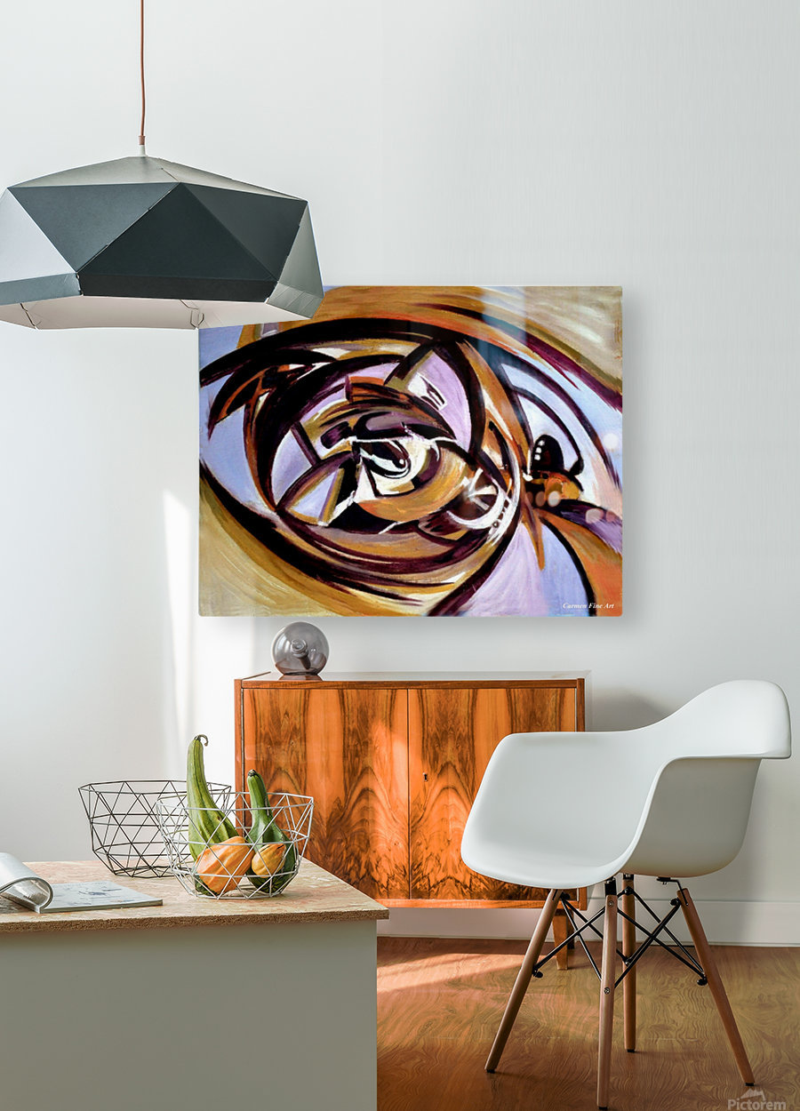 The Architectonic Autobiography  HD Metal print with Floating Frame on Back
