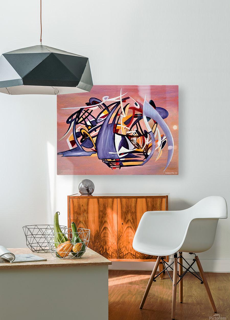 Nun Desiring the Artist  HD Metal print with Floating Frame on Back