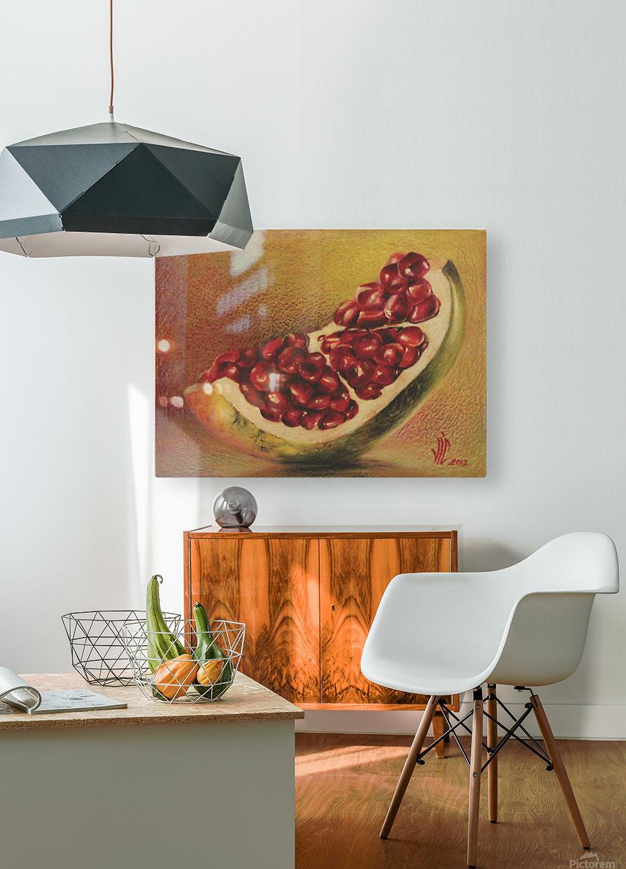 pomegranate by Vali Irina Ciobanu  HD Metal print with Floating Frame on Back