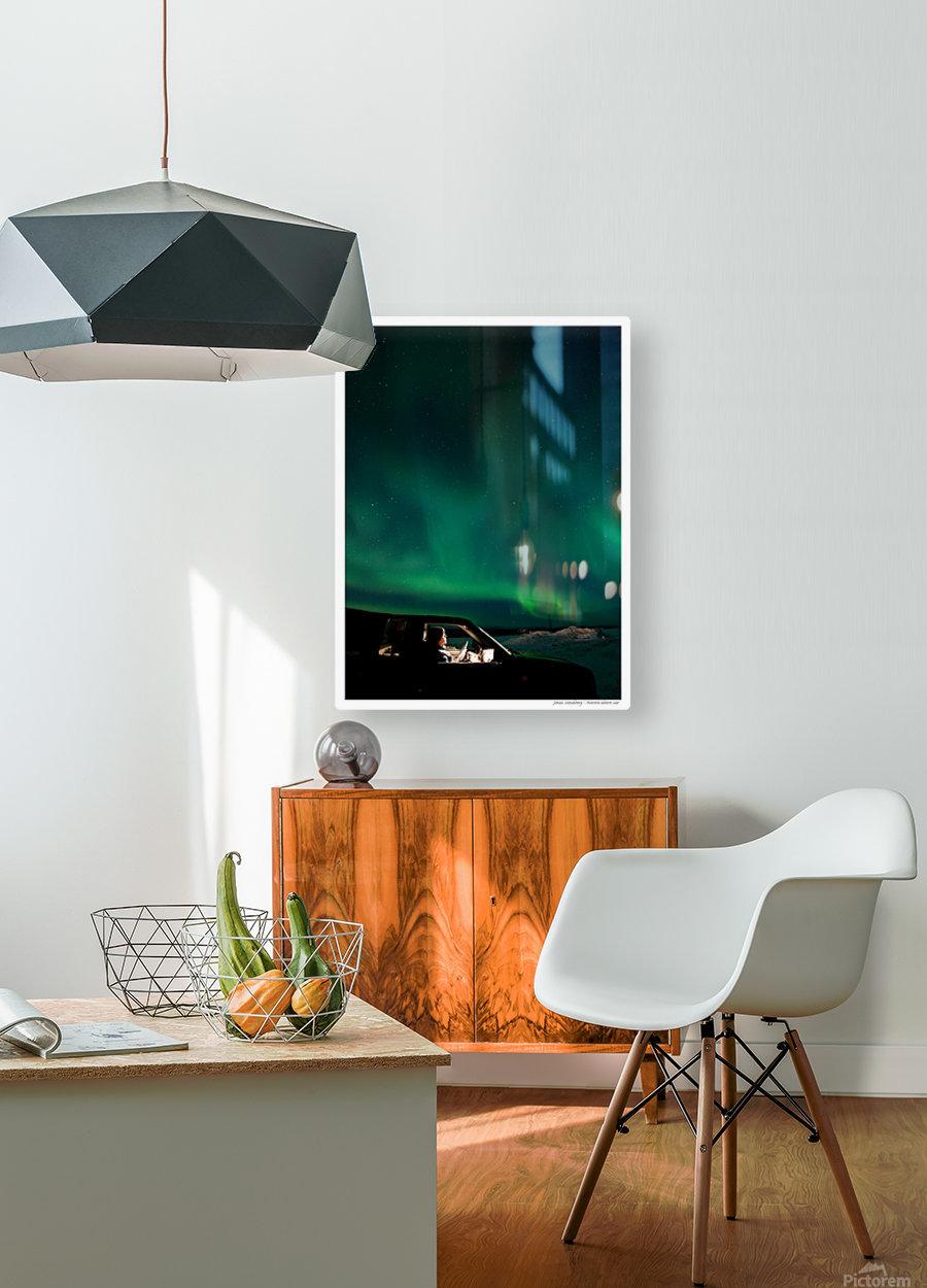 Aurora spectator  HD Metal print with Floating Frame on Back