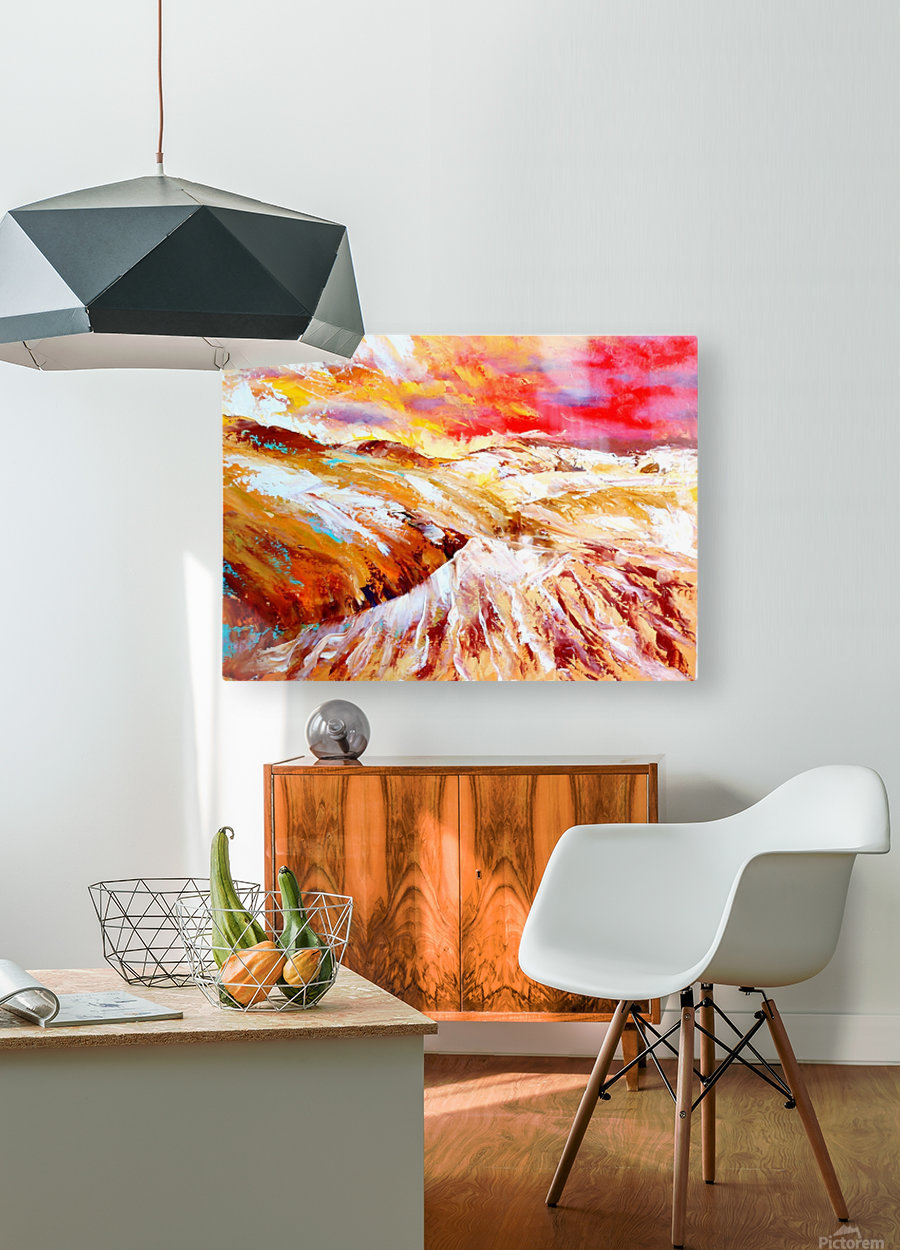 Sandy dunes     HD Metal print with Floating Frame on Back