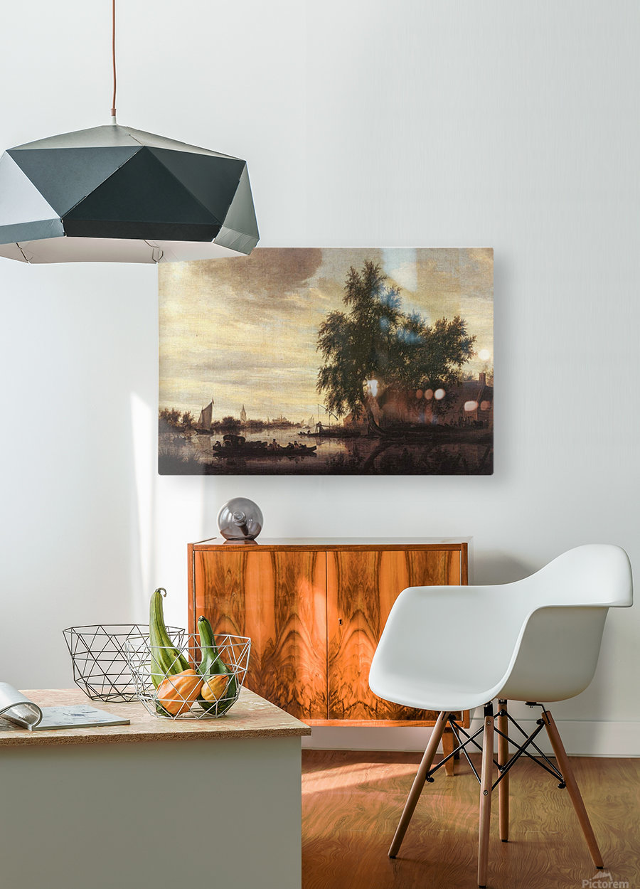 The Ferryboat  HD Metal print with Floating Frame on Back