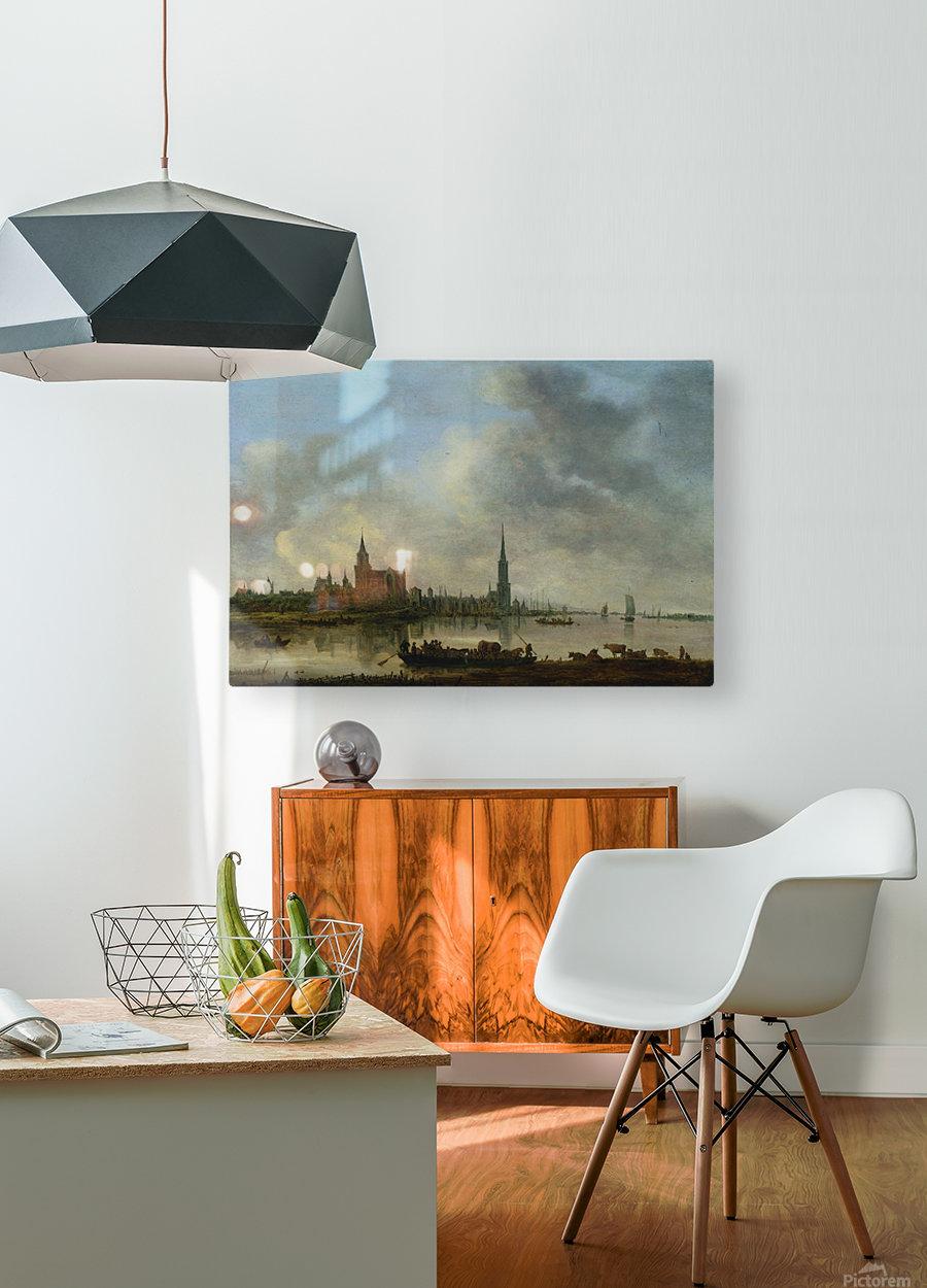 Blick auf Emmerich  HD Metal print with Floating Frame on Back