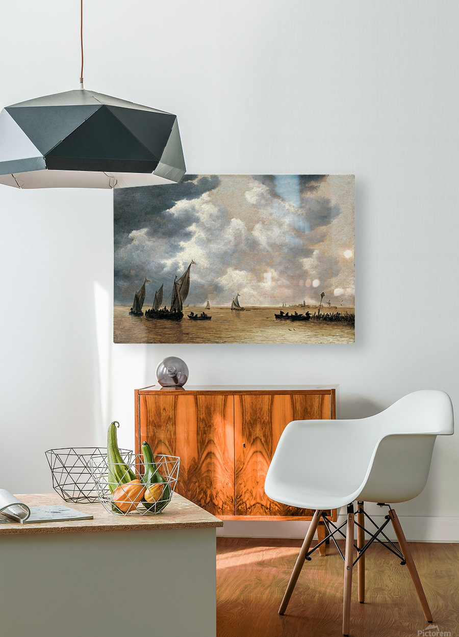 An Estuary Scene  HD Metal print with Floating Frame on Back