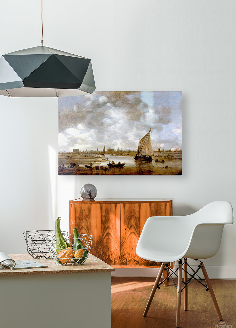 View of Leiden from the Northeast  HD Metal print with Floating Frame on Back