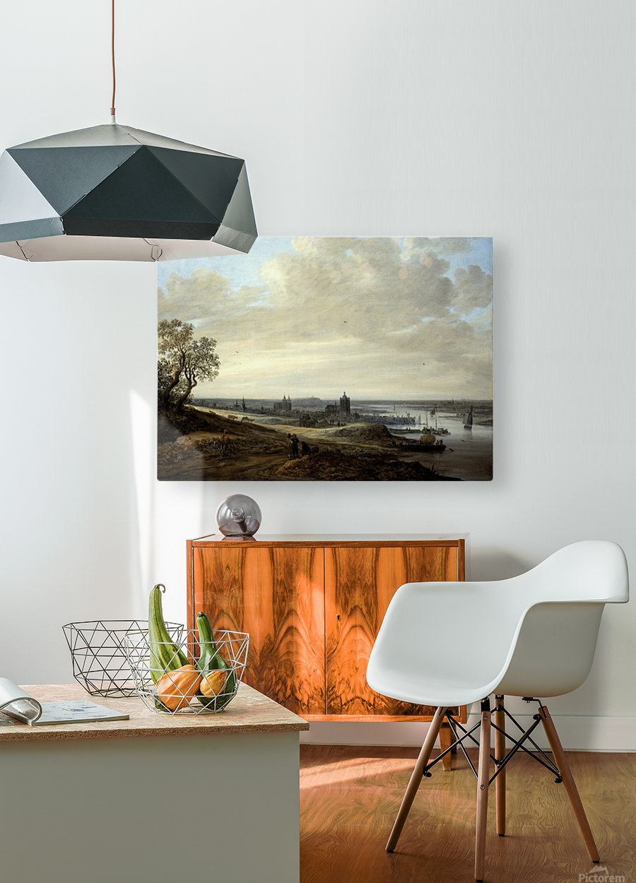 Panorama Landscape with a View of Arnhem  HD Metal print with Floating Frame on Back