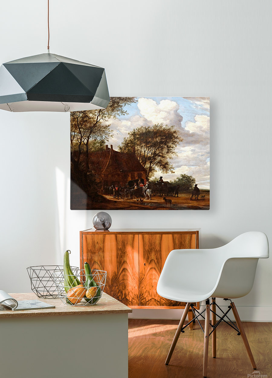 A Wooded Landscape  HD Metal print with Floating Frame on Back