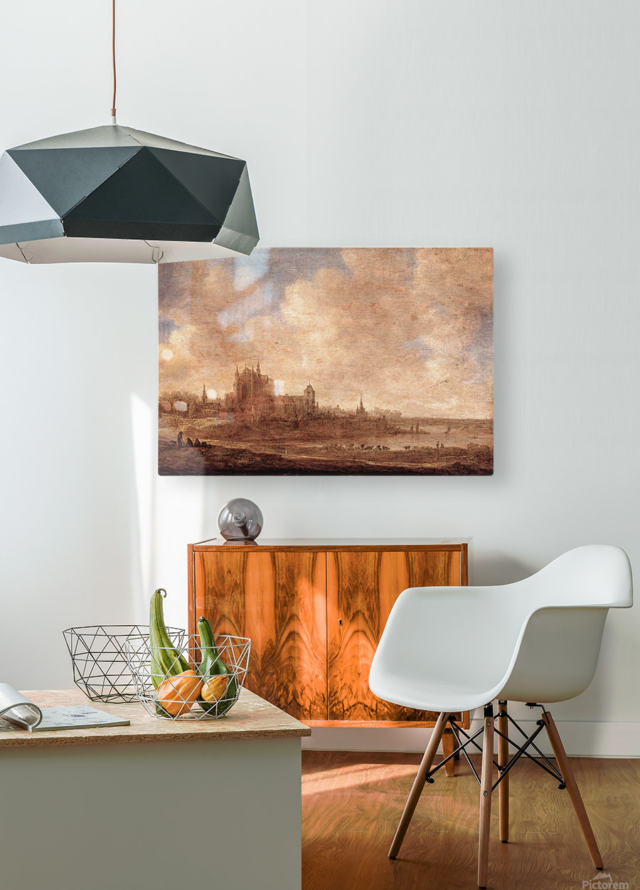View of Leiden  HD Metal print with Floating Frame on Back