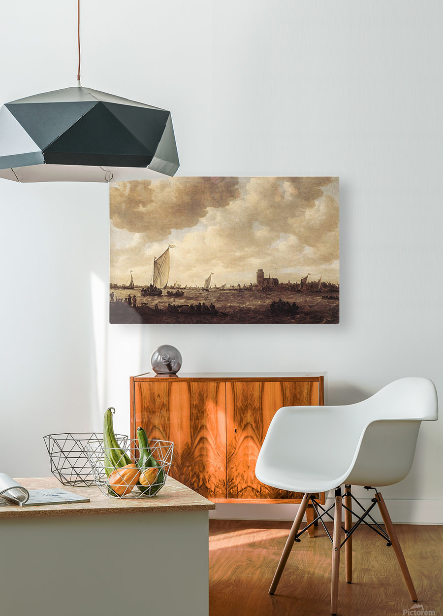 View of Dordrecht  HD Metal print with Floating Frame on Back