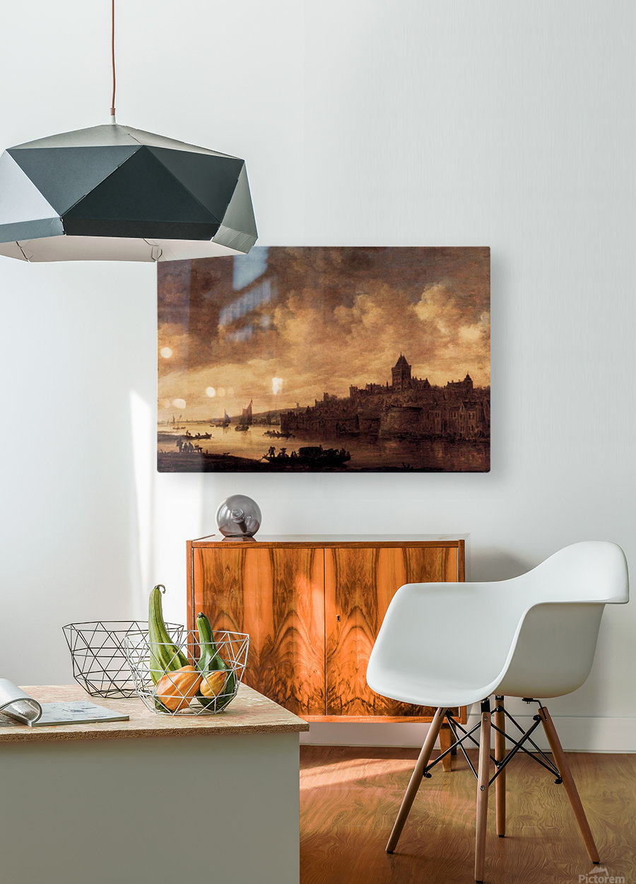 View of Nijmegen  HD Metal print with Floating Frame on Back