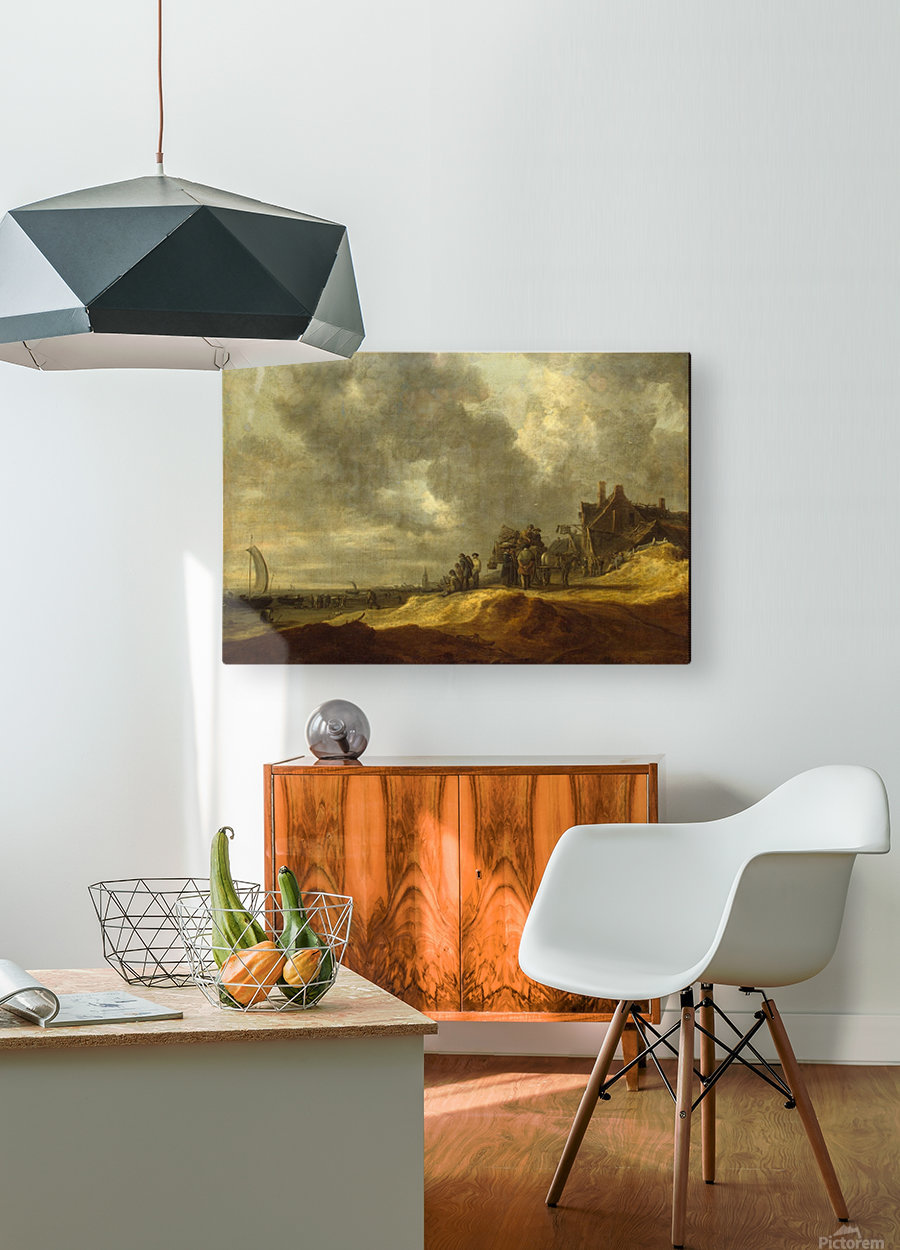 Shore at Scheveningen  HD Metal print with Floating Frame on Back