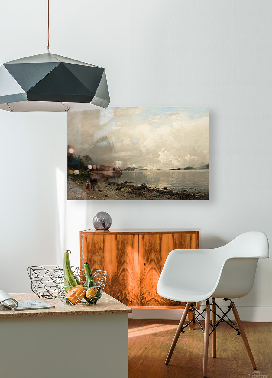 By the lake  HD Metal print with Floating Frame on Back