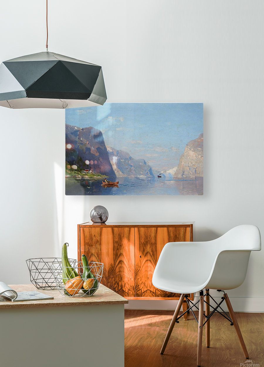 Two Norwegian Fjord Landscapes  HD Metal print with Floating Frame on Back
