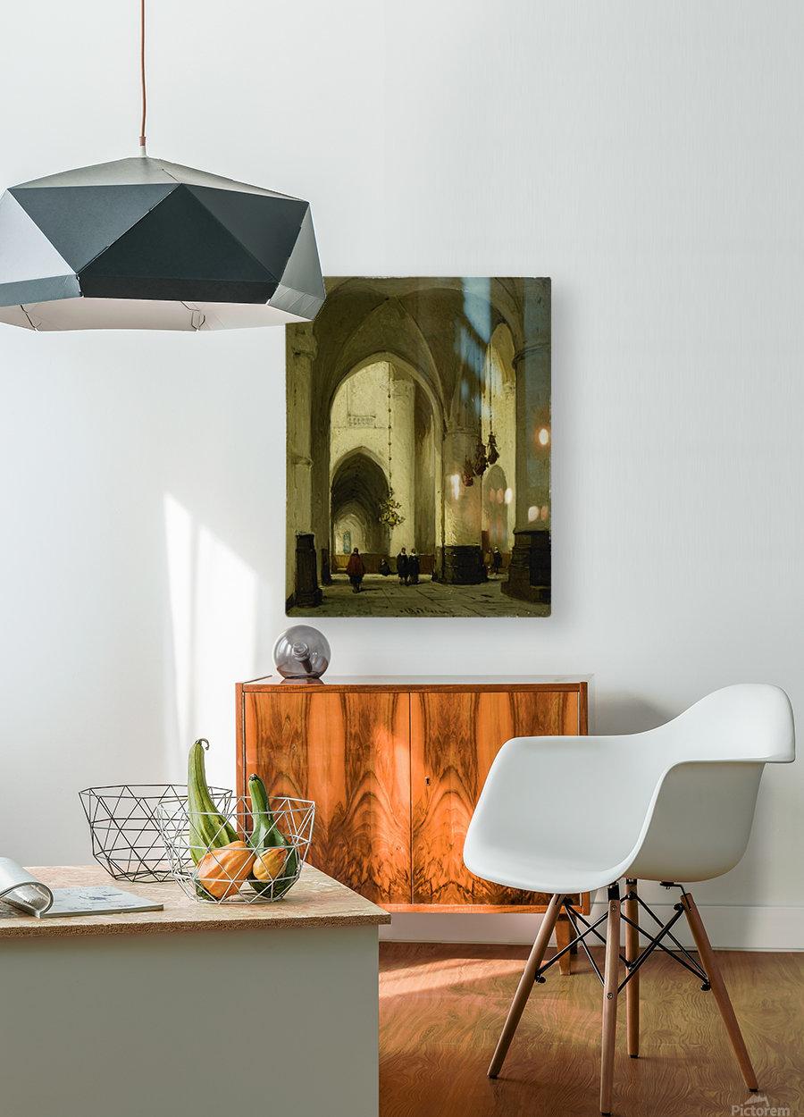 Interieur van de Grote of Sint Bavokerk te Haarlem  HD Metal print with Floating Frame on Back