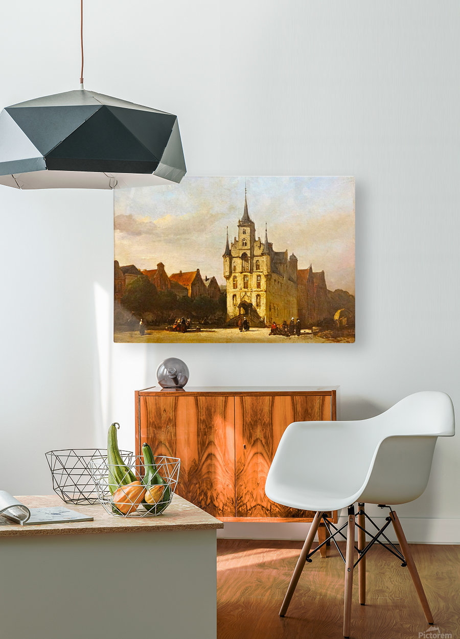 Gouda stadhuis  HD Metal print with Floating Frame on Back
