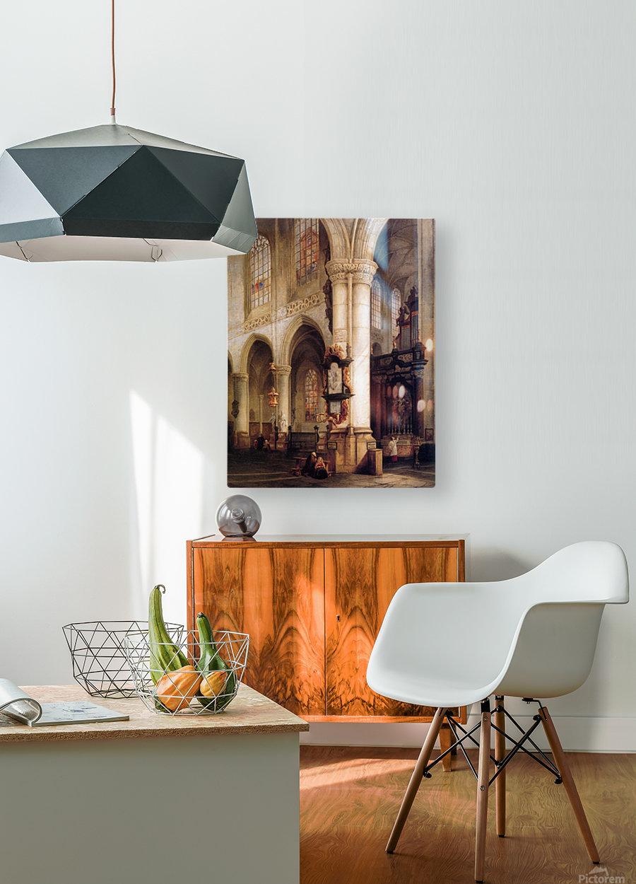 St Jacobskerk Antwerpen Sun  HD Metal print with Floating Frame on Back