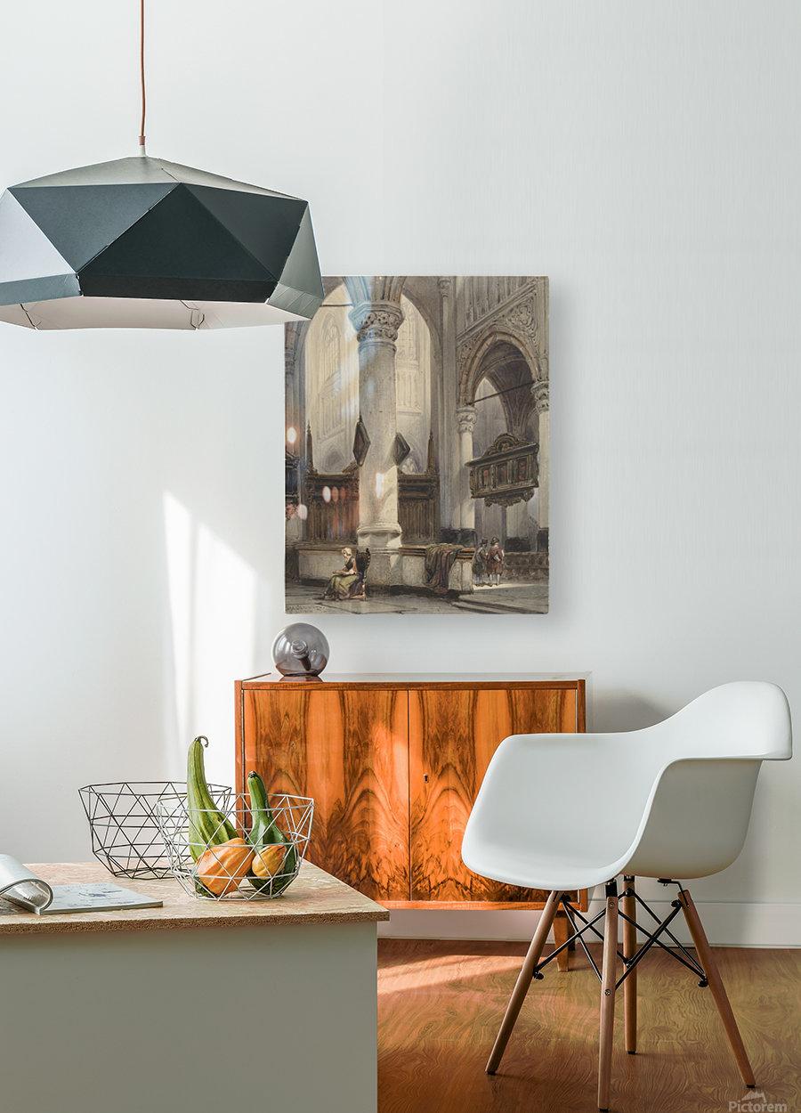 Interieur van de Nieuwe Kerk te Delft  HD Metal print with Floating Frame on Back