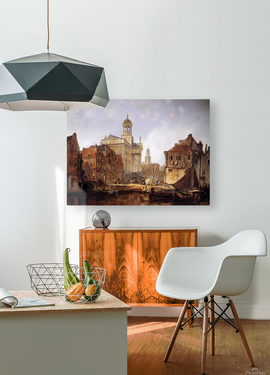View On Utrecht Sun  HD Metal print with Floating Frame on Back