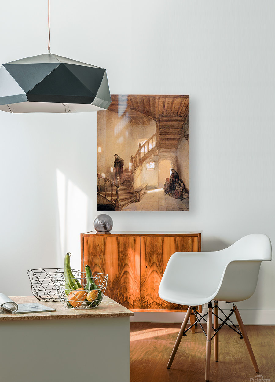 Cloister In Boxmeer Sun  HD Metal print with Floating Frame on Back