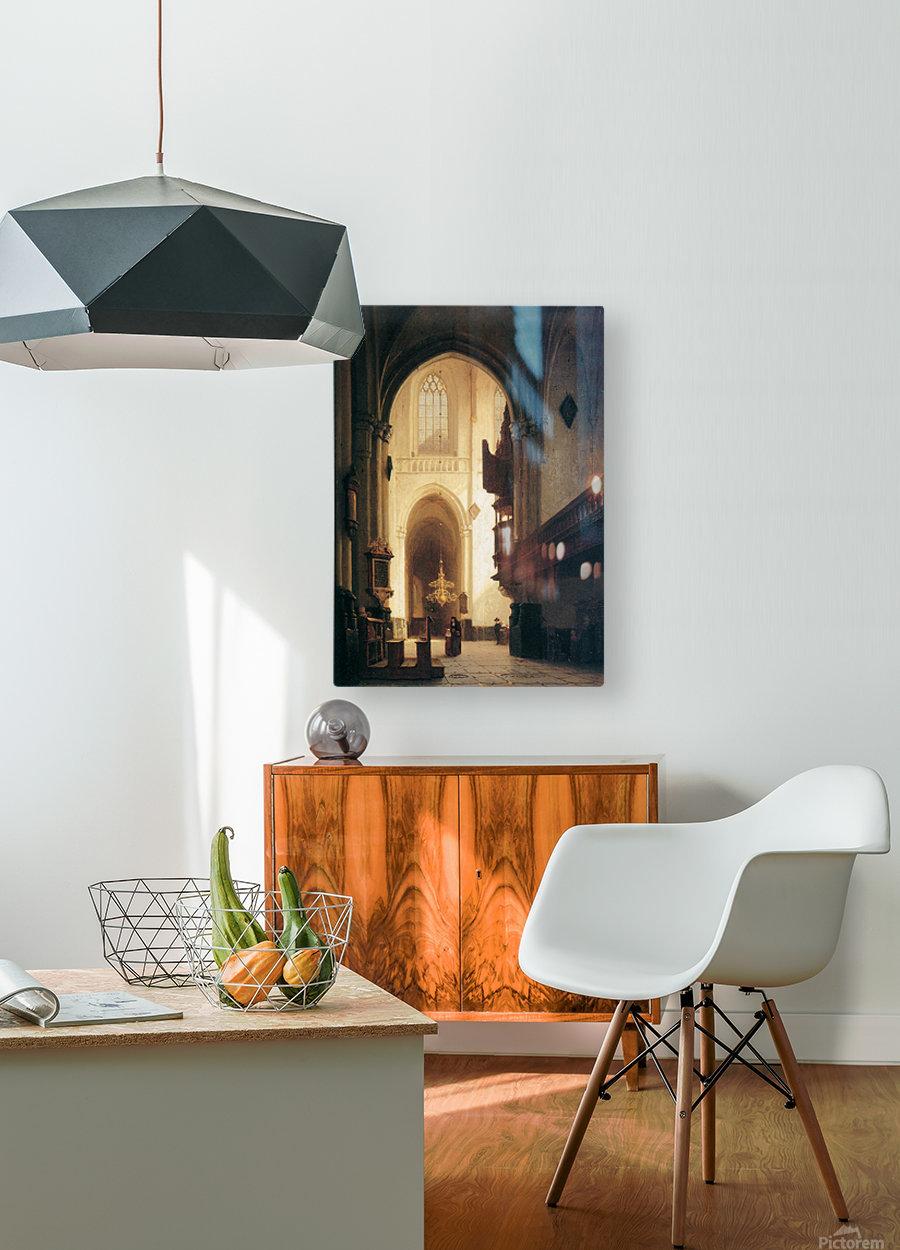Hooglandse Kerk Leiden Sun  HD Metal print with Floating Frame on Back