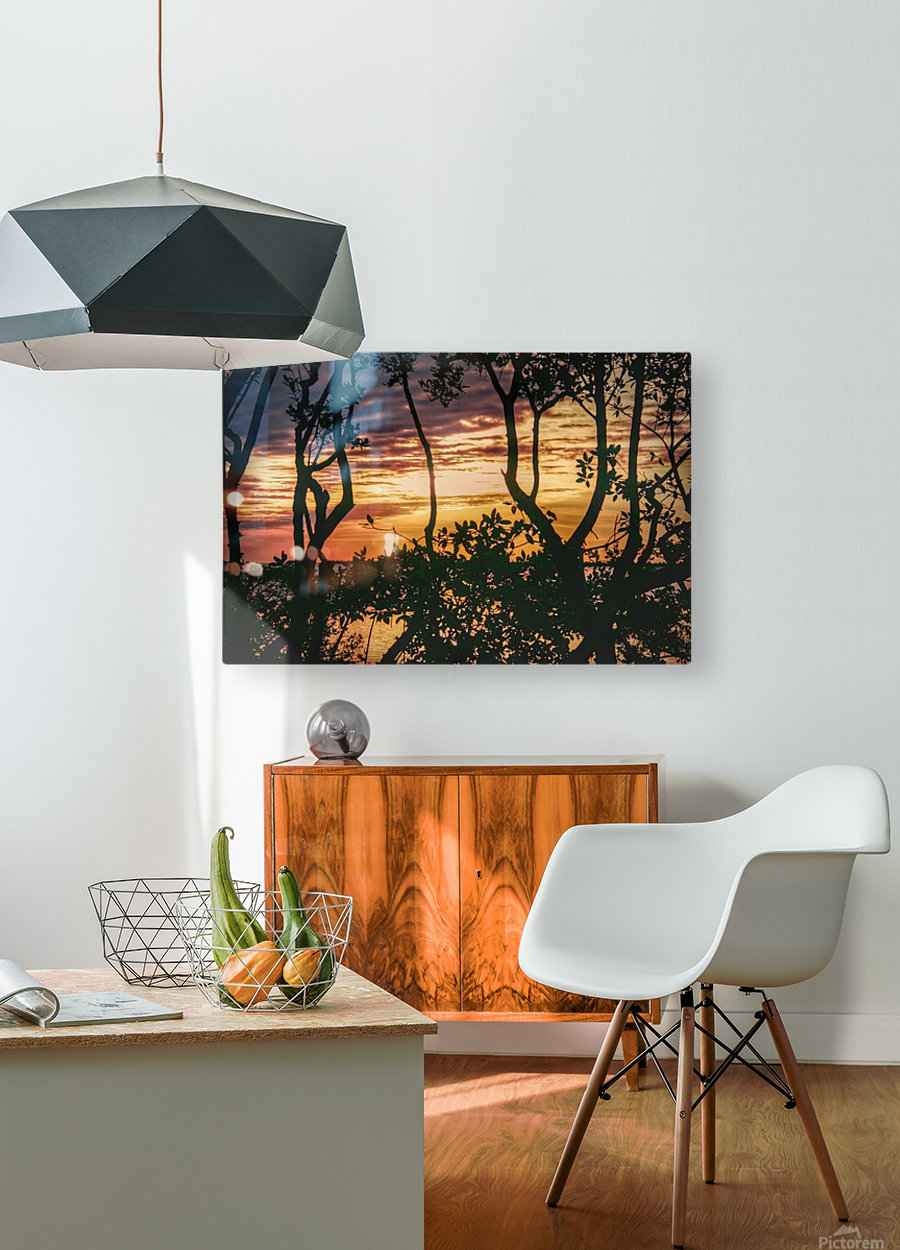 Sunset Collection - 03  HD Metal print with Floating Frame on Back