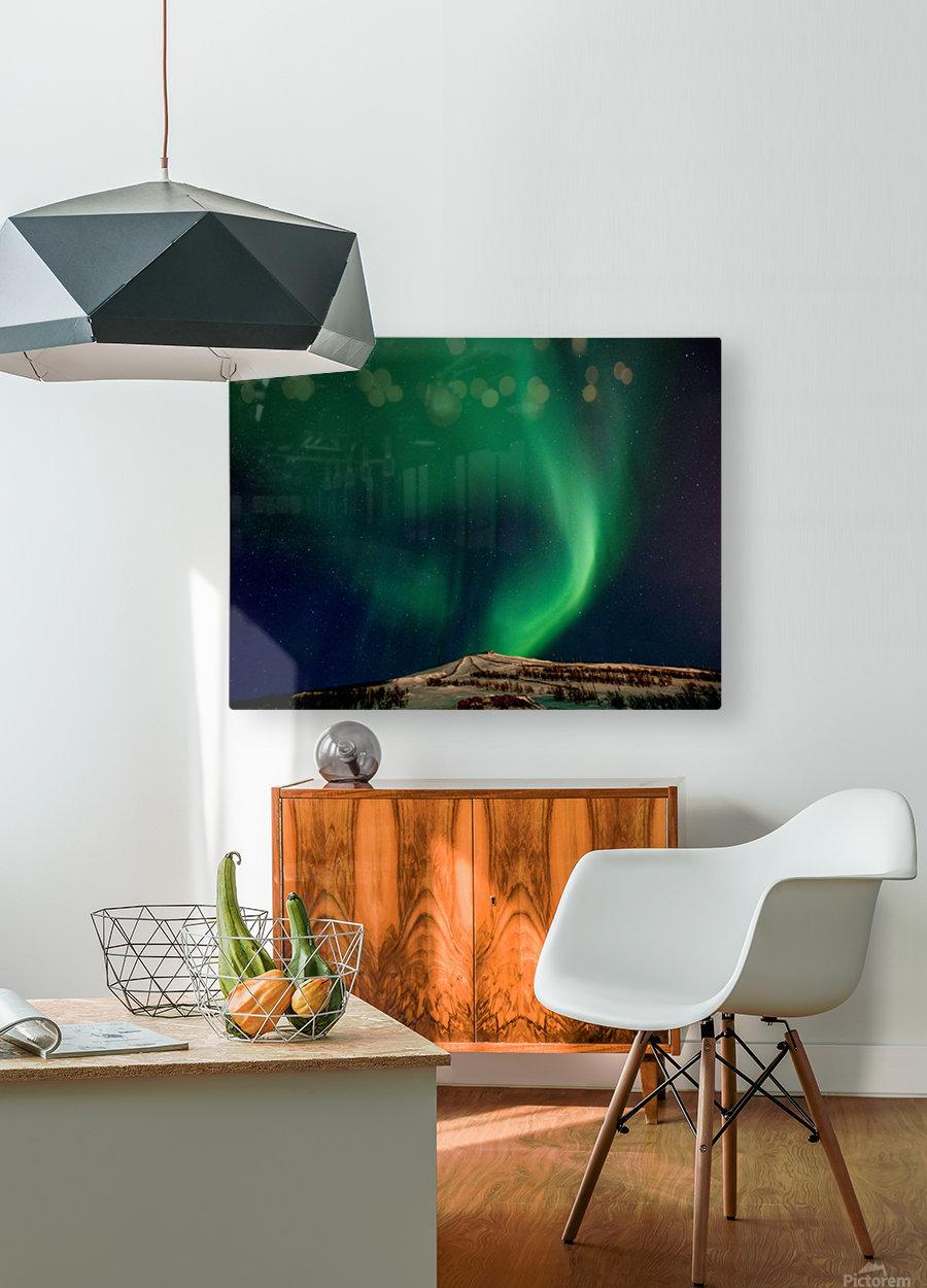 Aurora swirl  HD Metal print with Floating Frame on Back
