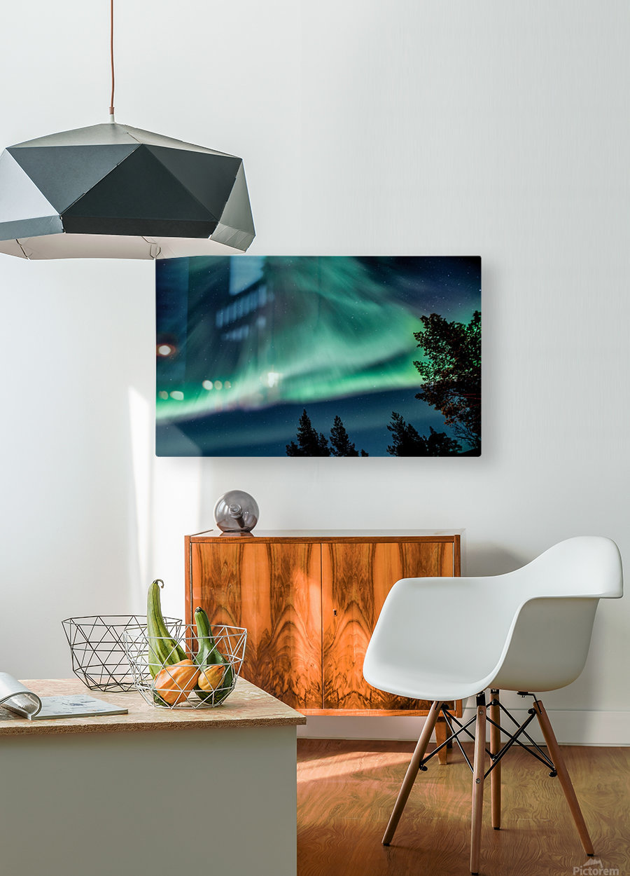 Green sky  HD Metal print with Floating Frame on Back