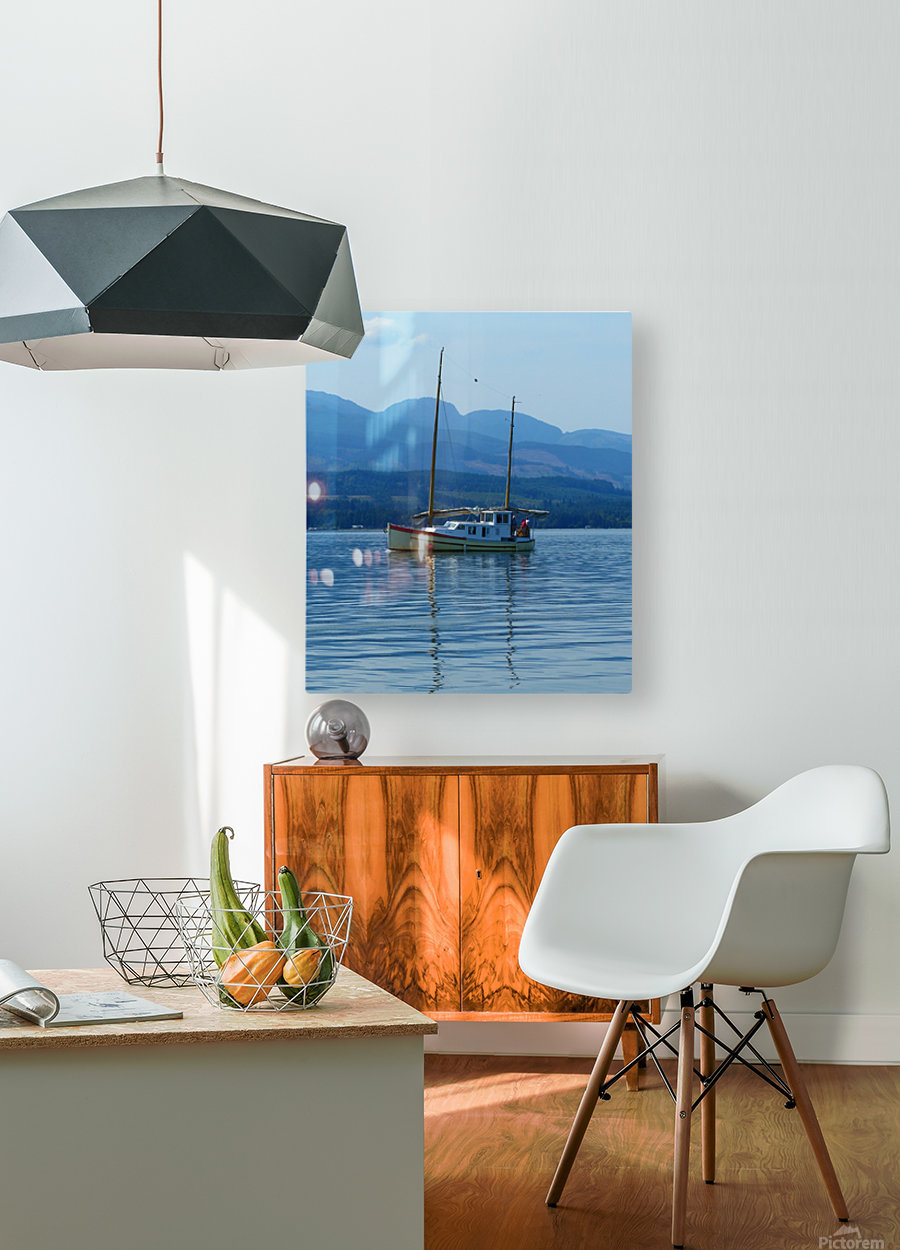 A Perfect Summer Day  HD Metal print with Floating Frame on Back