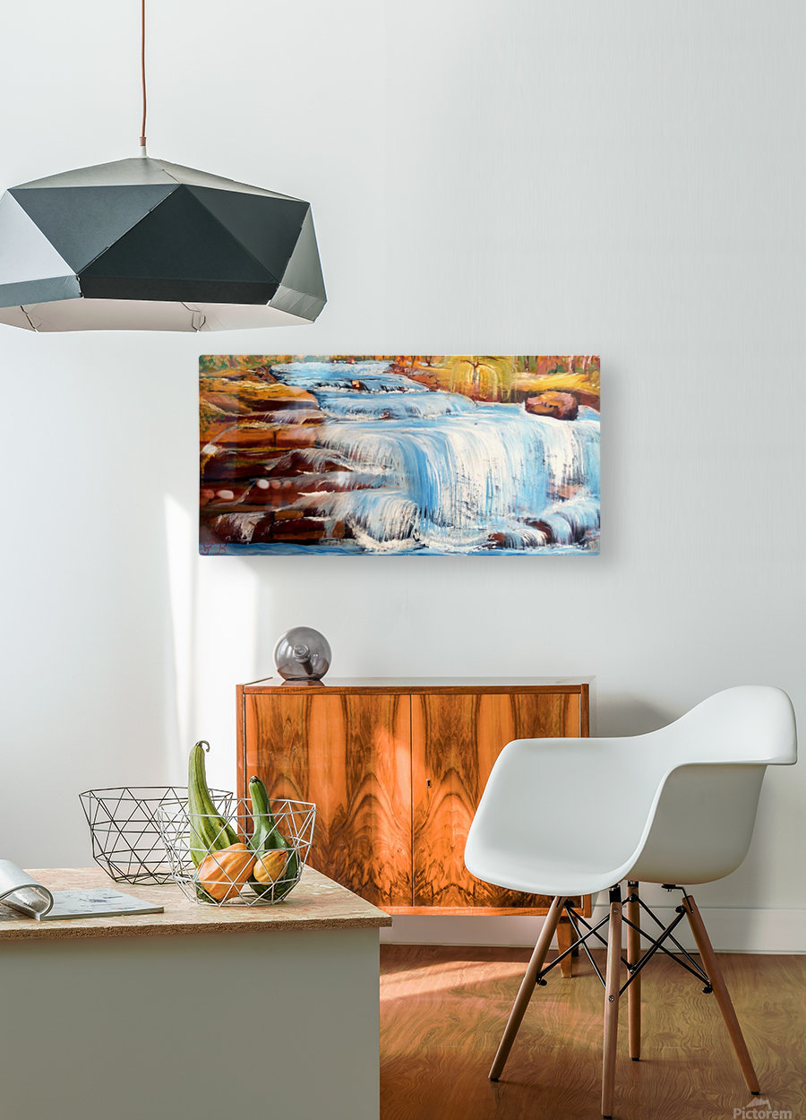 Carpatian cascade     HD Metal print with Floating Frame on Back