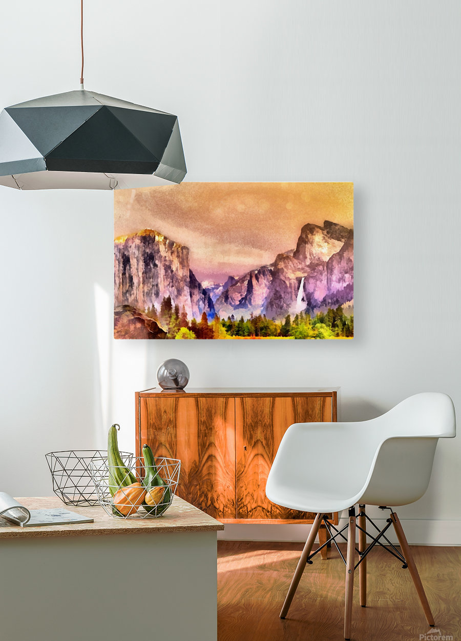 Yosemite park2  HD Metal print with Floating Frame on Back