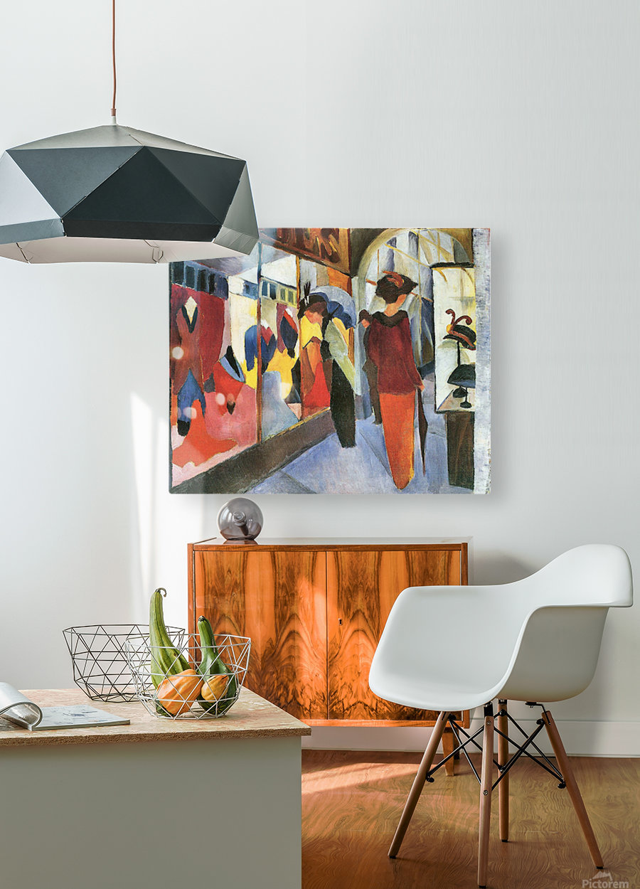 Fashion Store by August Macke  HD Metal print with Floating Frame on Back