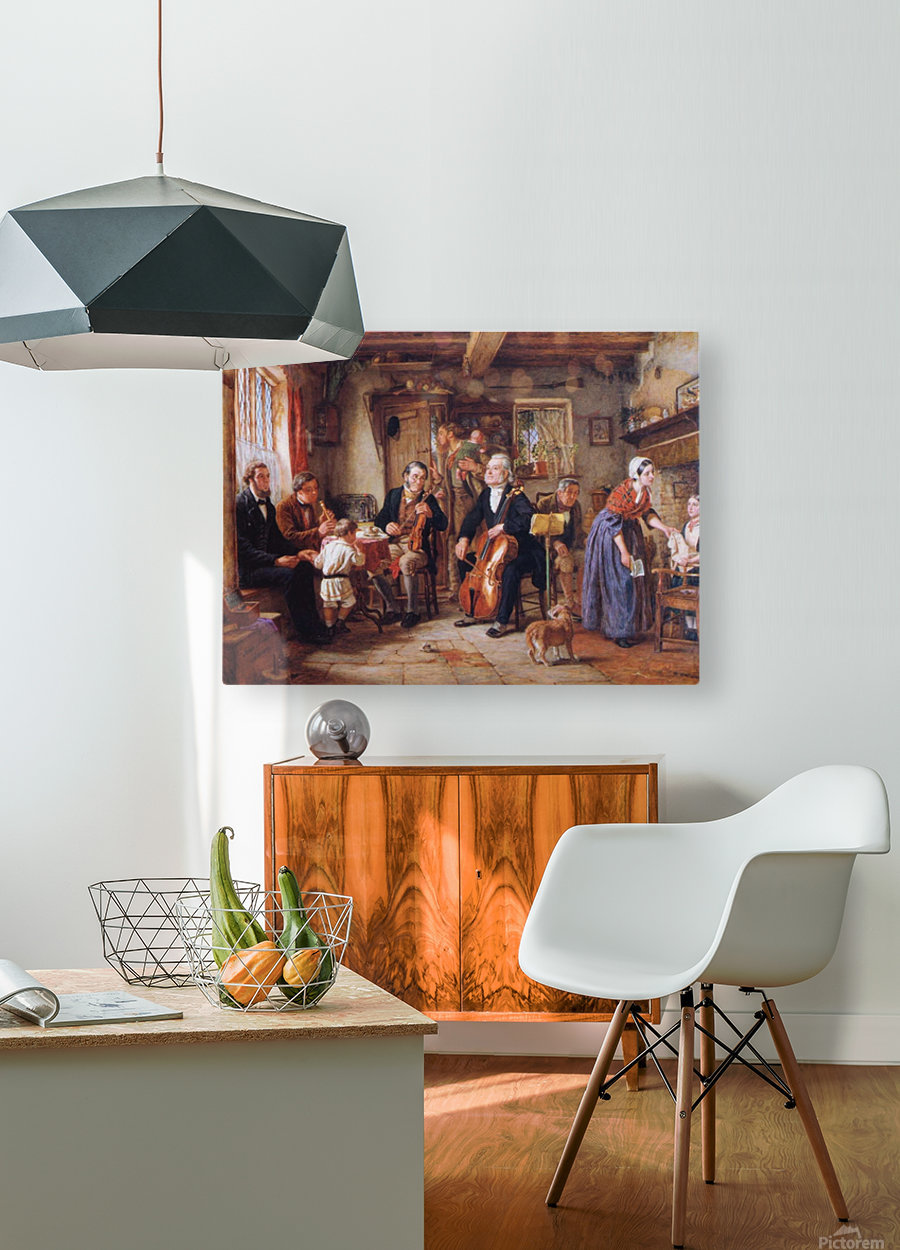 A Philharmonic Rehearsal in a Farmhouse  HD Metal print with Floating Frame on Back