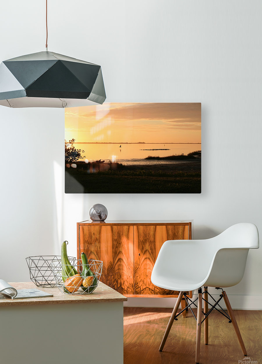 Island Sound - 2  HD Metal print with Floating Frame on Back