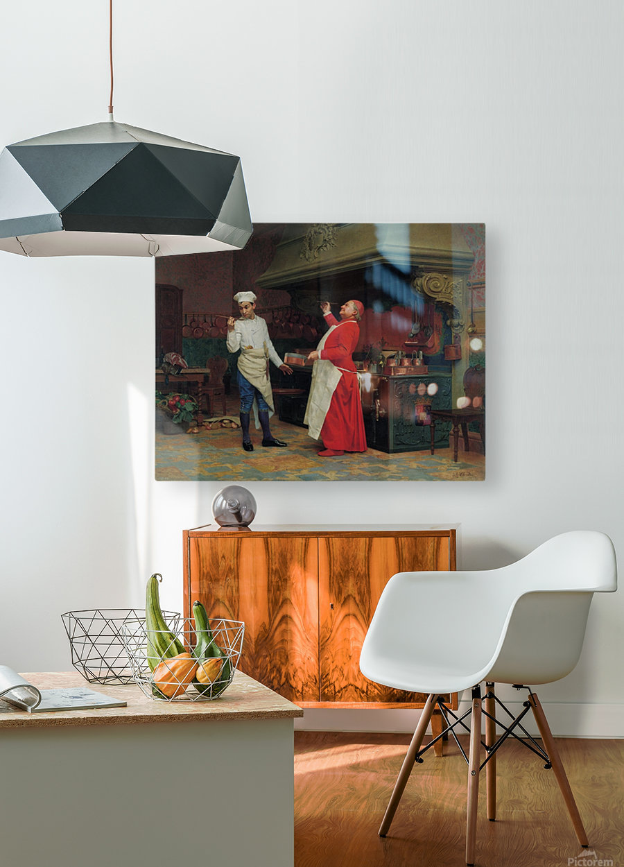 The Marvelous Sauce, 1890  HD Metal print with Floating Frame on Back