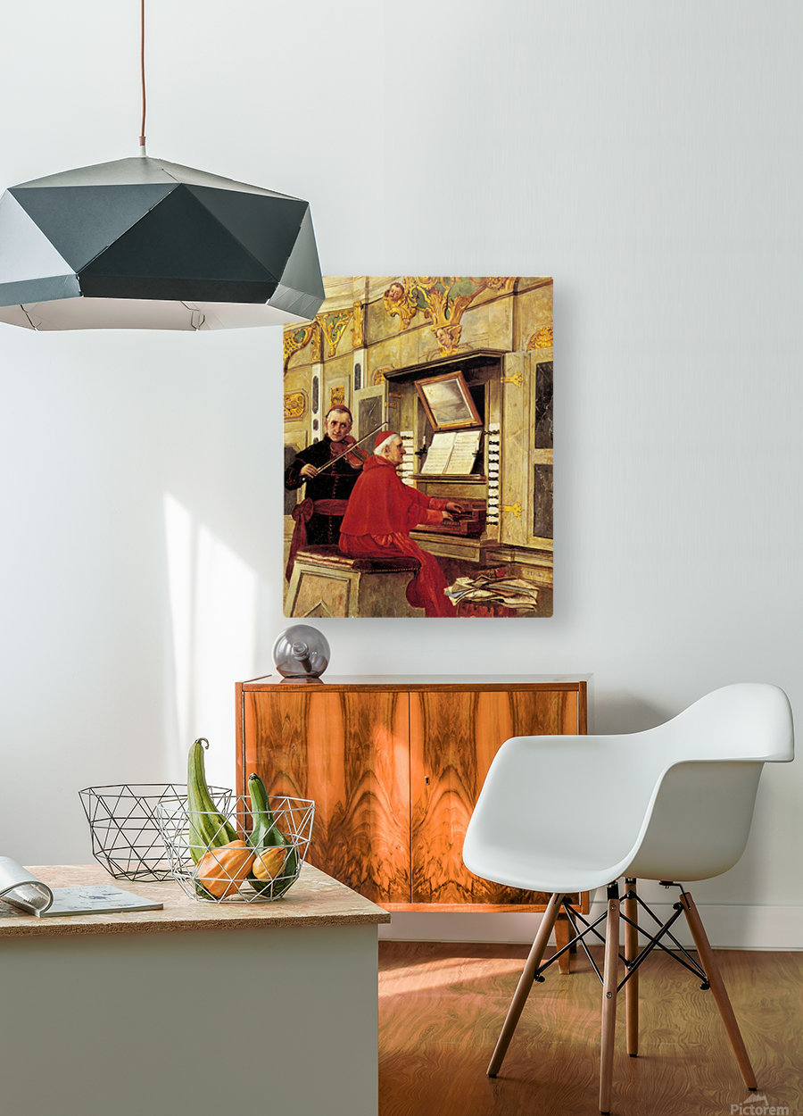 The Duet  HD Metal print with Floating Frame on Back