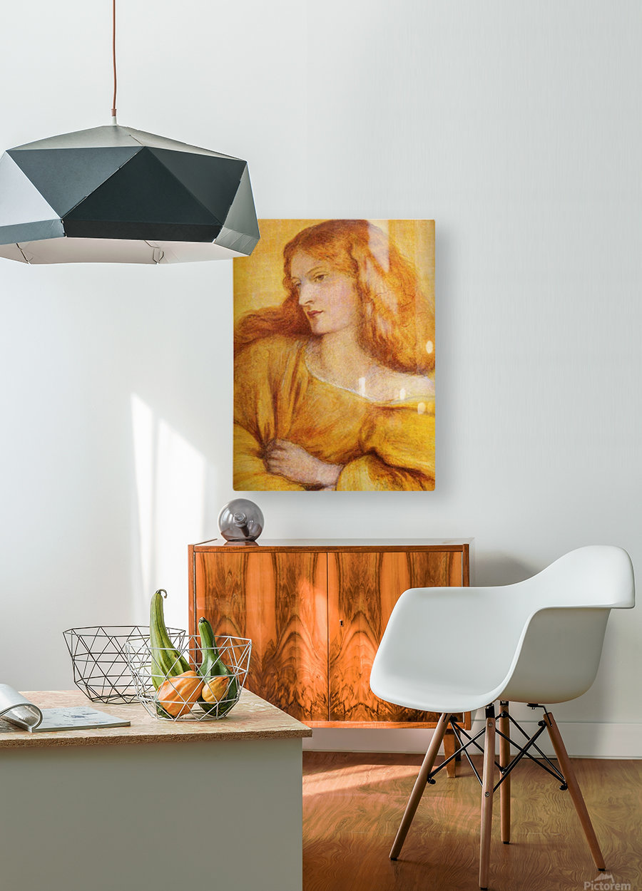 Woman in Yellow  HD Metal print with Floating Frame on Back