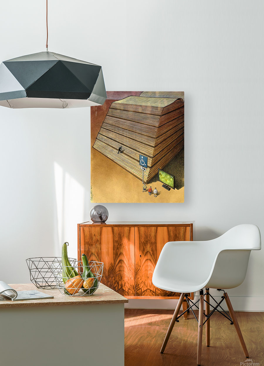 Disable  HD Metal print with Floating Frame on Back