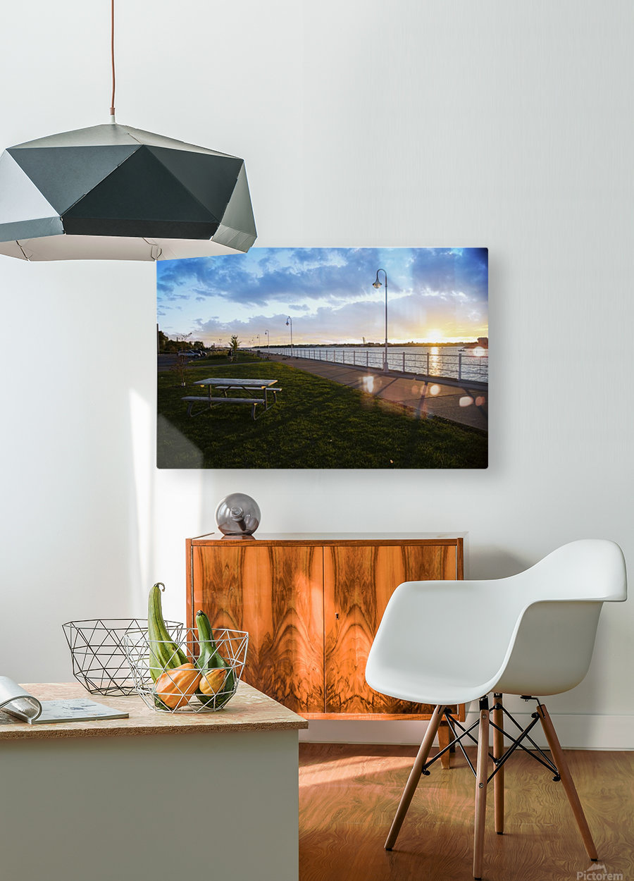 Sunset at the Park  HD Metal print with Floating Frame on Back