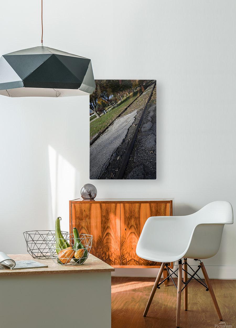 Tracks  HD Metal print with Floating Frame on Back