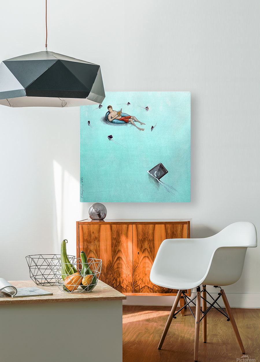 Sharks  HD Metal print with Floating Frame on Back