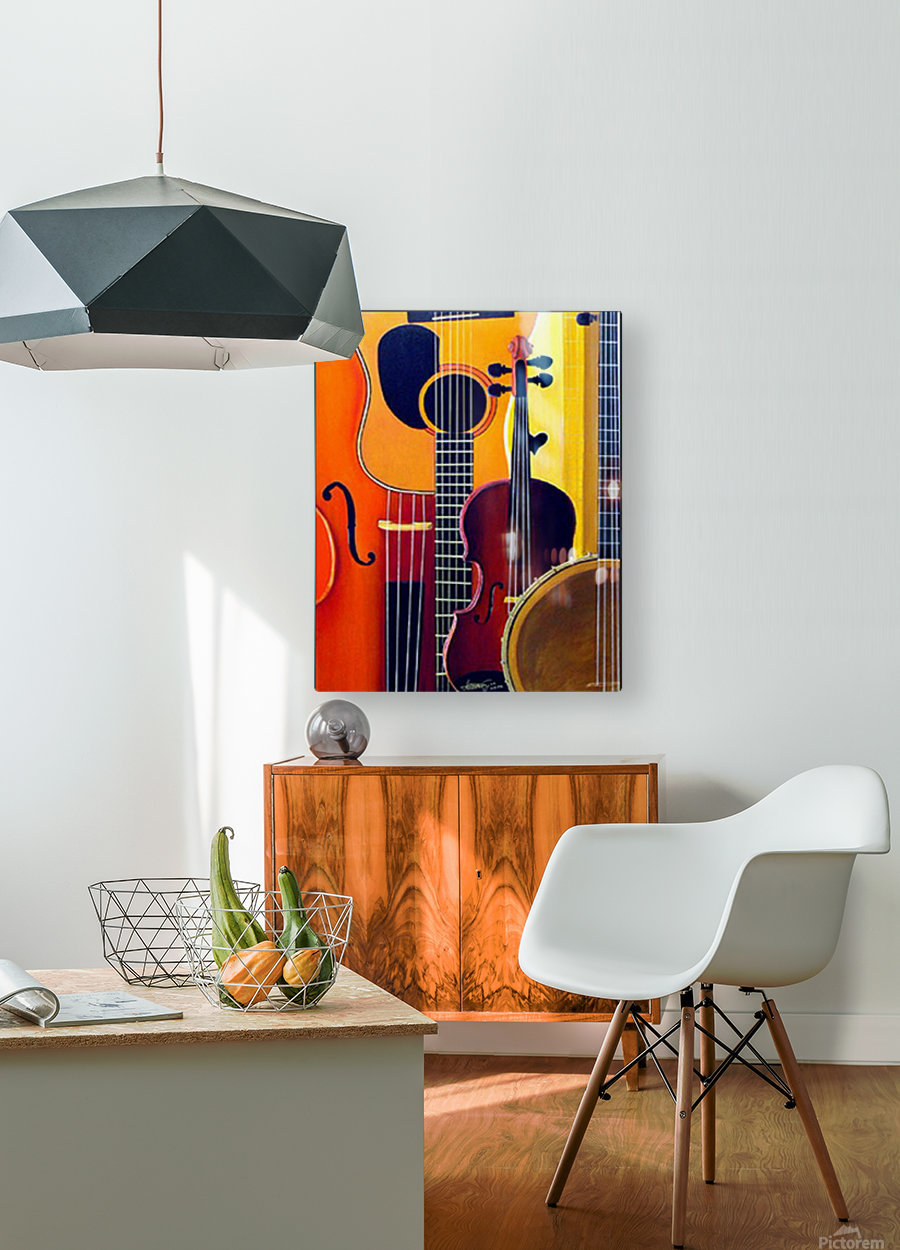 Blue Grass to Brahms  HD Metal print with Floating Frame on Back