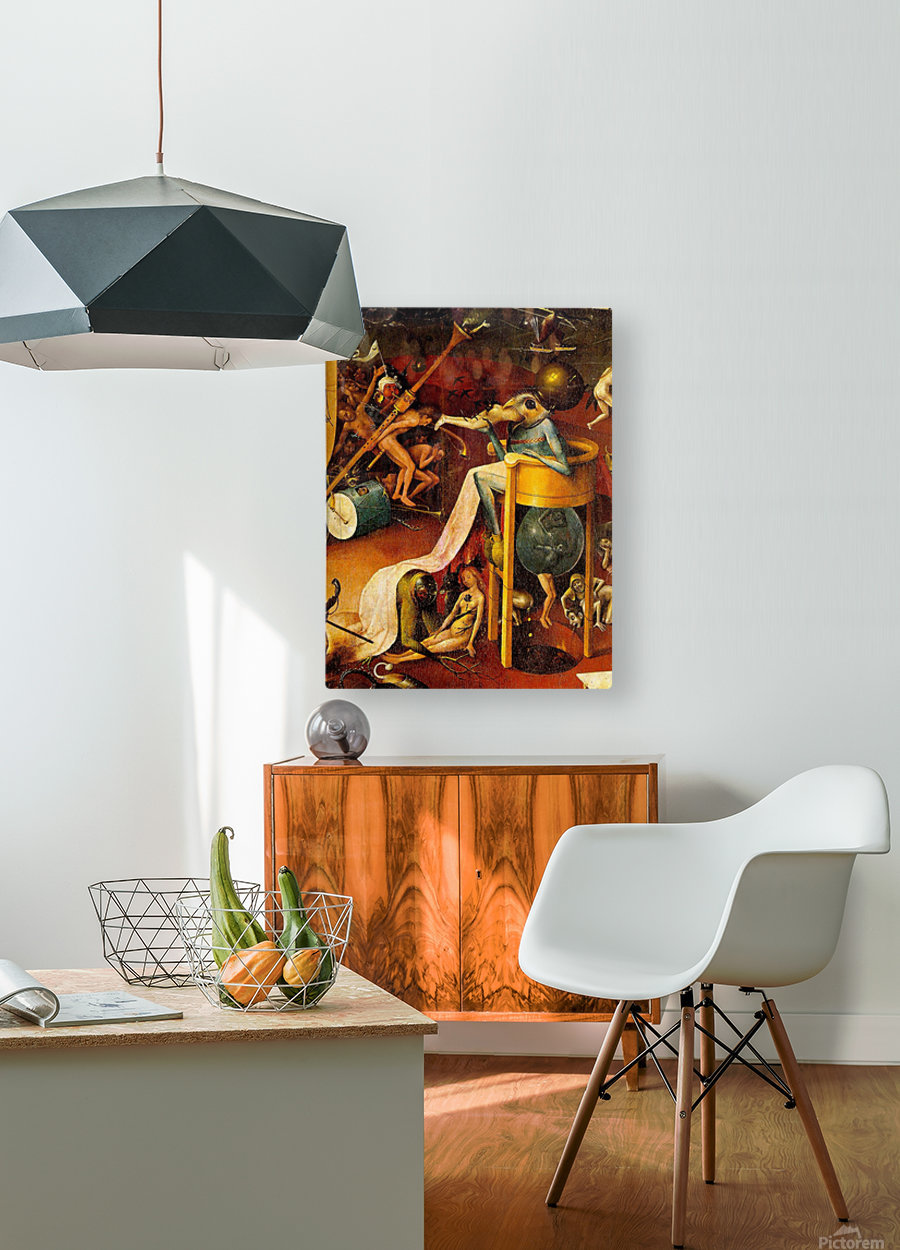 Bird-Headed Monster  HD Metal print with Floating Frame on Back