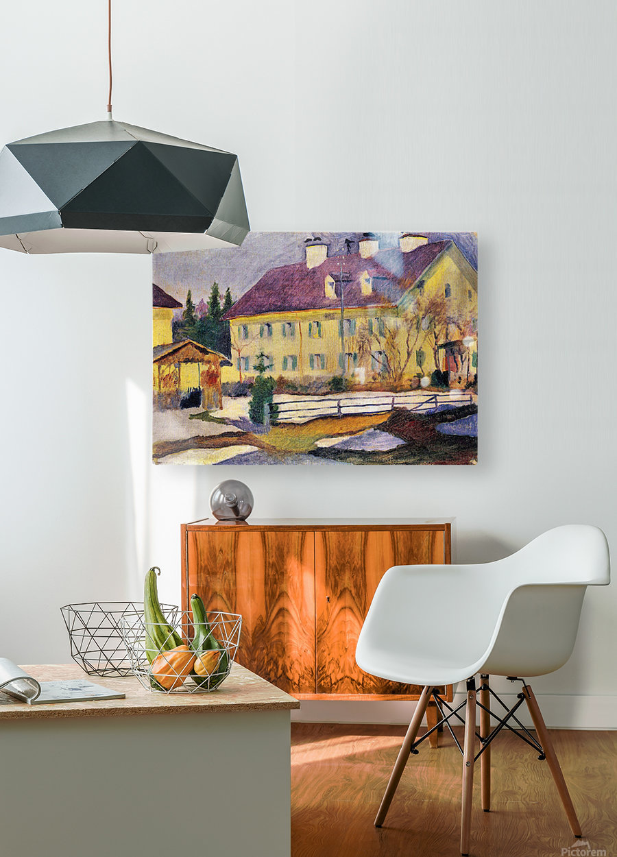 Hospital in Tegern Sea by August Macke  HD Metal print with Floating Frame on Back
