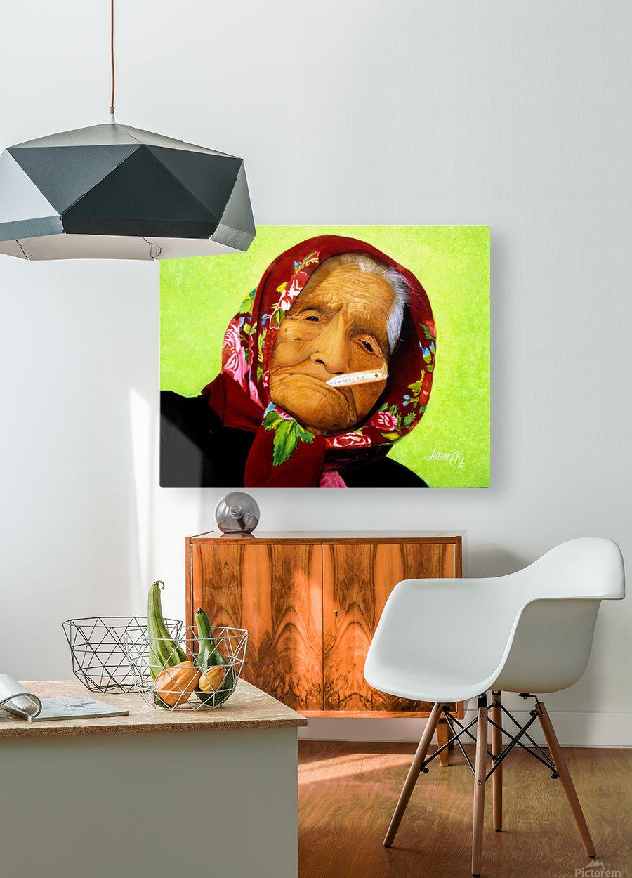 Native Survivor  HD Metal print with Floating Frame on Back